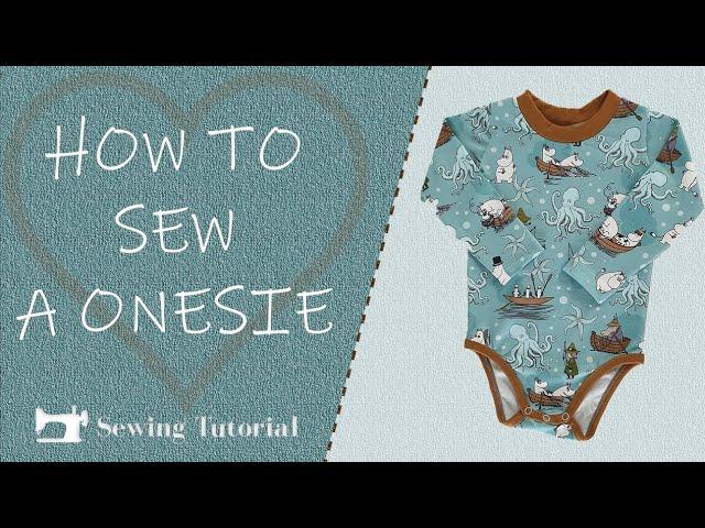 How To Sew Baby Onesie | Tutorial | diy | free Pattern