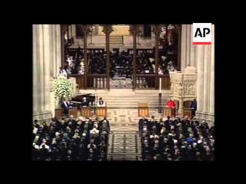 Memorial service at National Cathedral in Washington DC.