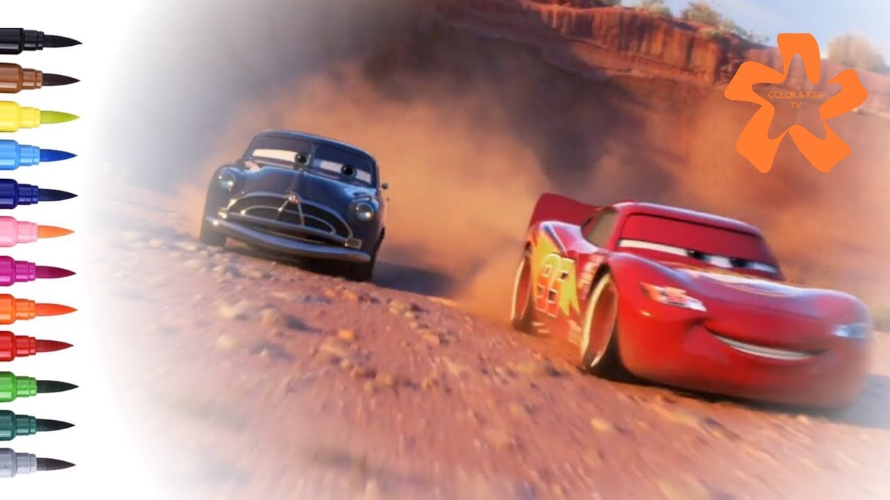 Cars 3 How to draw and color Lightning McQueen with Doc