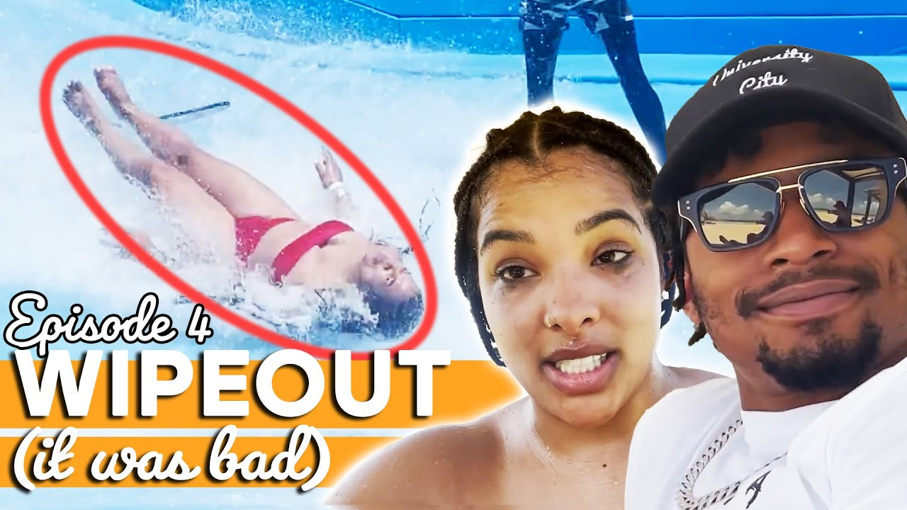 WE BUSTED OUR A** SURFING! // Couple's Vacation Ep. 4