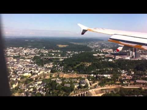 British Airways  Airbus 319, Landing to Luxembourg Findel Airport
