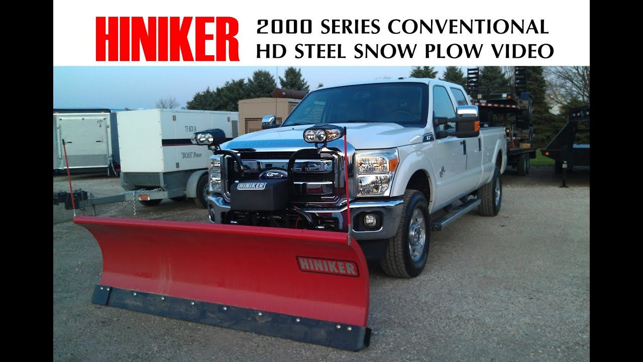 Hiniker Snow Plow Truck With Dodge Free Download Wiring Diagram Conventional Steel 2000 Series Youtube
