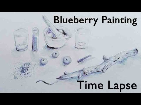 Blueberry Painting