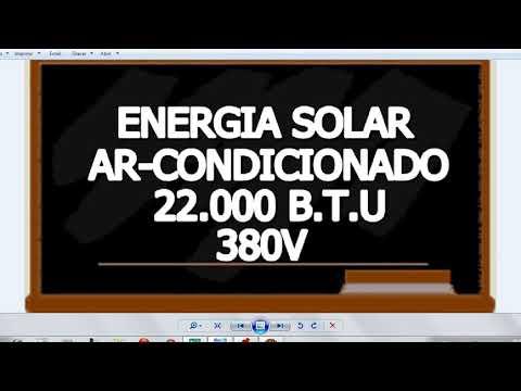 Projeto Energia Solar Sem Baterias  AR-Condicionado 22.000 BTU-380V