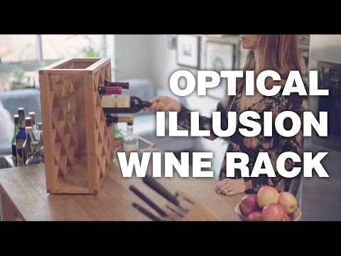 Harlequin Illusions Pinetti Optical Illusion Wine Rack