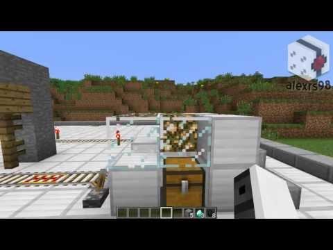 Tutorial De Redstone: Estacion De Carga Y Descarga - Minecraft 1.6.2
