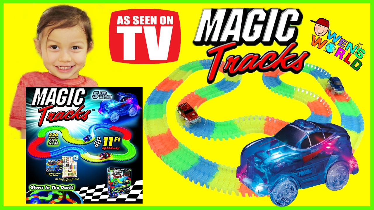 Magic Track Lighted Race Car Glow In The Dark Race Track Police