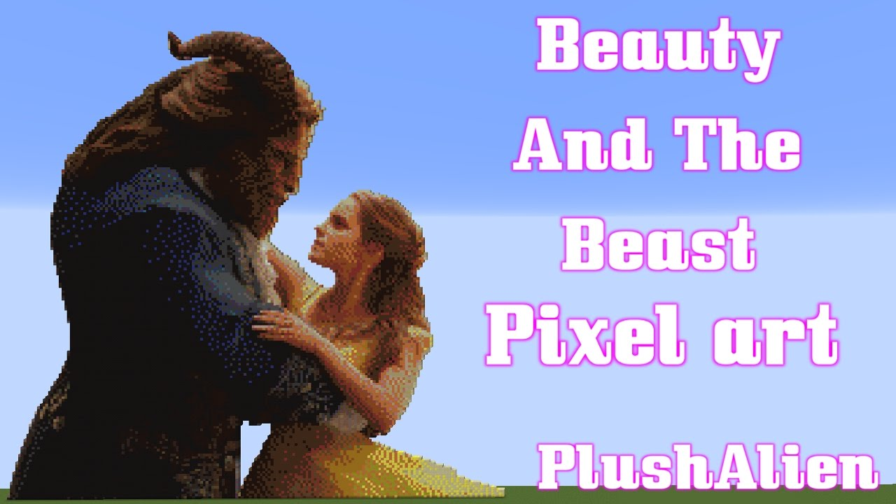 Minecraft Pixel Art Speedbuild Beauty And The Beast