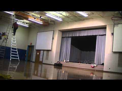 Load-In Time-lapse: CrossPointe Church Community Christmas Service, Burnt Chimney Elementary School