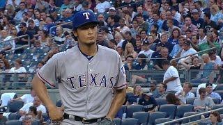 TEX@NYY: Darvish takes loss in rain-shortened start