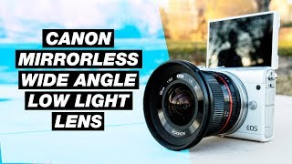 Canon M Wide Angle Lens Review — Rokinon 12mm f/2.0 Low Light Test