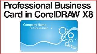 Professional Business Card in CorelDRAW X8 Tutorial in Urdu Hindi | Corel Draw X8