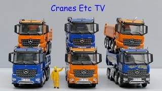 NZG Mercedes-Benz Arocs Tippers by Cranes Etc TV