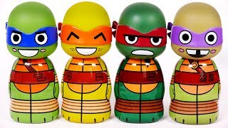 Learn Your Colors with Ninja Turtles for Children and Kids
