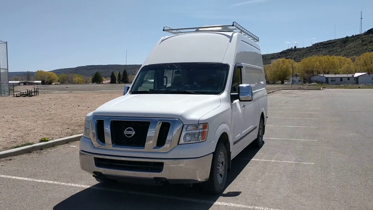 nissan nv 2500 high top homemade camper youtube. Black Bedroom Furniture Sets. Home Design Ideas