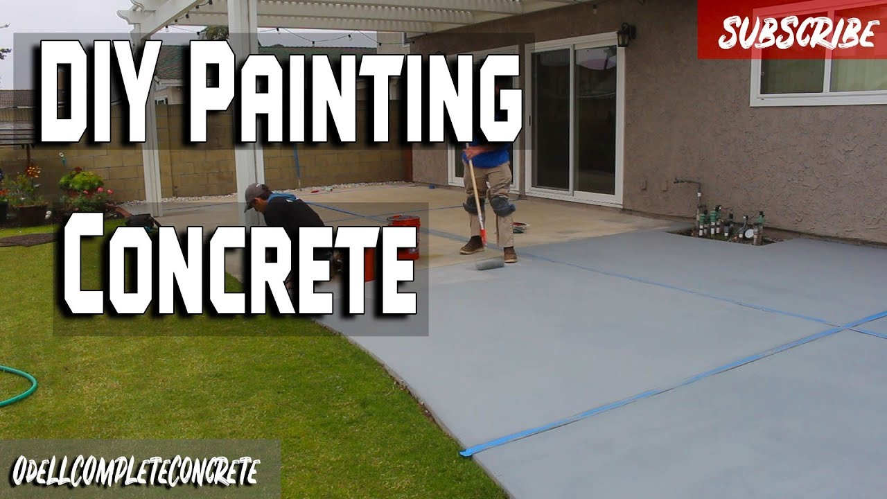 how to make old concrete look new painting concrete patio diy