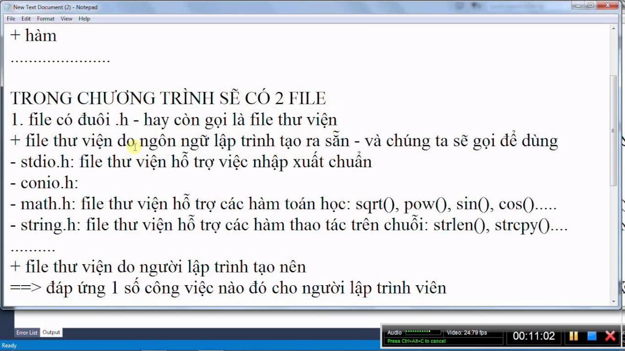 [Lập trình C/C++] Bài 41. Kĩ thuật chia tách file(file.h và file.cpp) trong lập trình C/C++(phần 1)