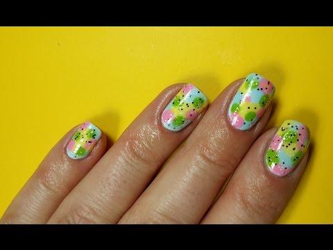 easy nail art design tutorial  easter nails  youtube