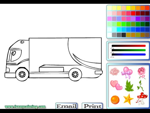 Semi Truck Coloring Pages For Kids Semi Truck Coloring Pages Youtube