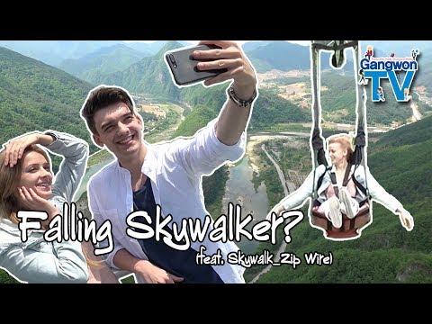 Niklas and Olena Travel in Gangwondo, Falling Skywalker feat, Skywalk Zip Wire