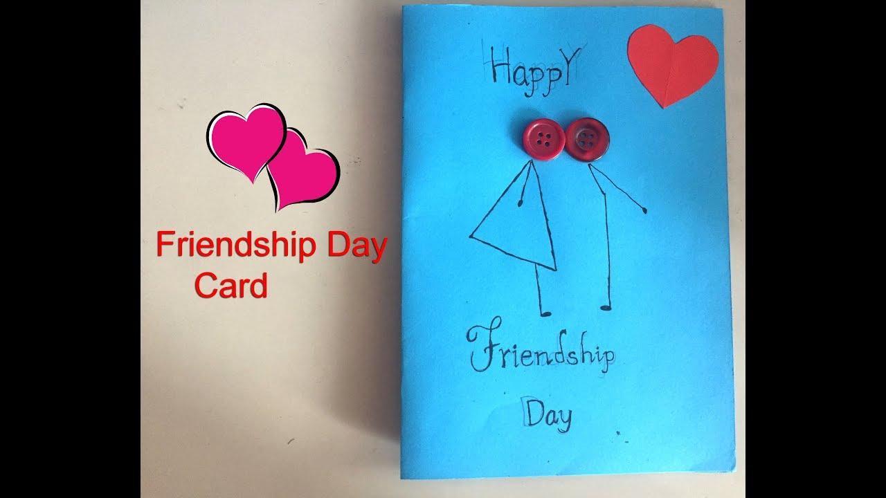 Friendship Day Card Handmade Card Youtube