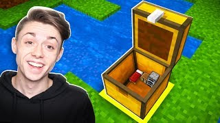 Building a Minecraft House INSIDE a CHEST!?