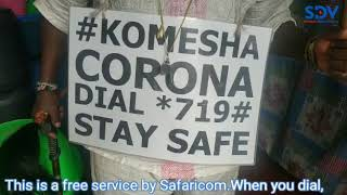 Corona Ambassador on the frontline of creating awareness in his own way in  Kitengela