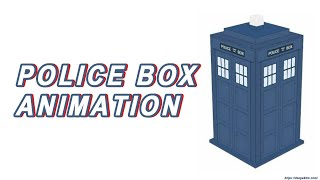 How to create POLICE BOX Animation in HTML and CSS