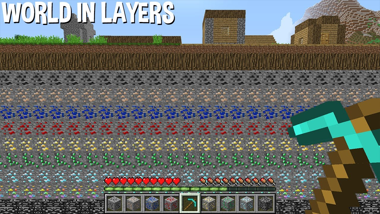 Minecraft but WORLD consists on ORE LAYERS ! ! !