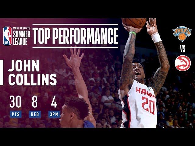 John Collins Impresses Vs Knicks In 2018 MGM Resorts Las Vegas Summer League!