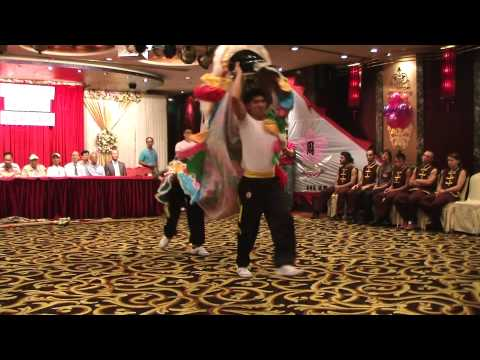 Human Mobile Stage 54D, 2010 Chau Lung Annual Banquet, Lion Dance, Kung Fu Travel Video