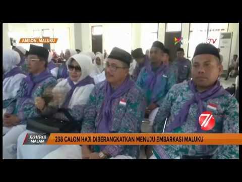 238 Jemaah Haji Berangkat Menuju Embarkasi Maluku