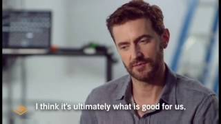 """Richard Armitage on whether a love that lasts is """"slow and moderate"""""""