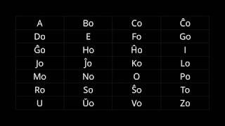 Esperanto 101: The Alphabet