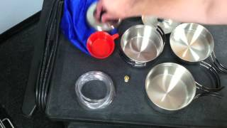 Stainless Steel Backpackers Cook Set Review