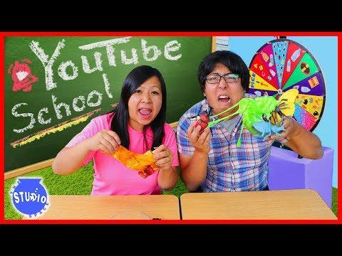 SPIN WHEEL DIY SLIME CHALLENGE FOR YOUTUBE SCHOOL!