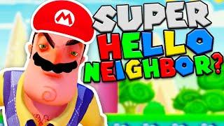 SUPER HELLO NEIGHBOR en Super Mario Maker 2
