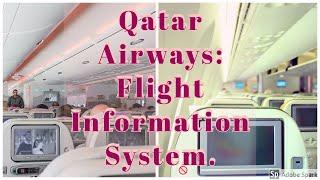 Qatar Airways Flight Information System, Doha to Los Angeles, LAX Airport, USA, United ...