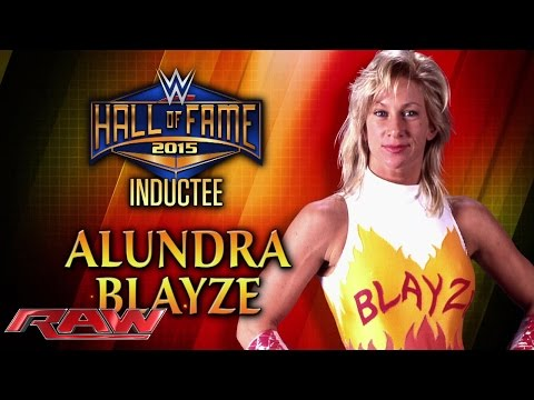 Alundra Blayze is announced for the WWE Hall of Fame Class of 2015: Raw, March 2, 2015