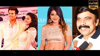 Ganesh Venkatram, Bigg Boss Sakshi Agarwal, Sanchitha Shetty at PFW 2019 Ramp Walk