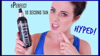 HYPED! bPerfect Cosmetics 10 Second Tan Review [Laura's Views]