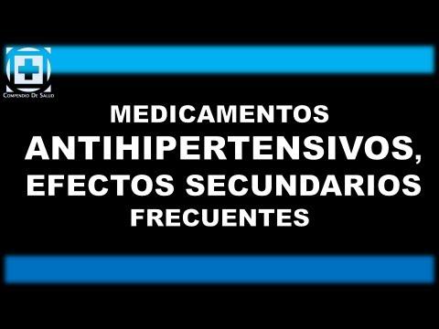 efectos secundarios medicamentos para la hipertension