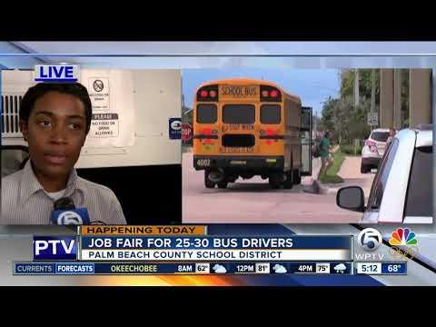 Palm Beach County School District Holds Bus Driver Job Fair