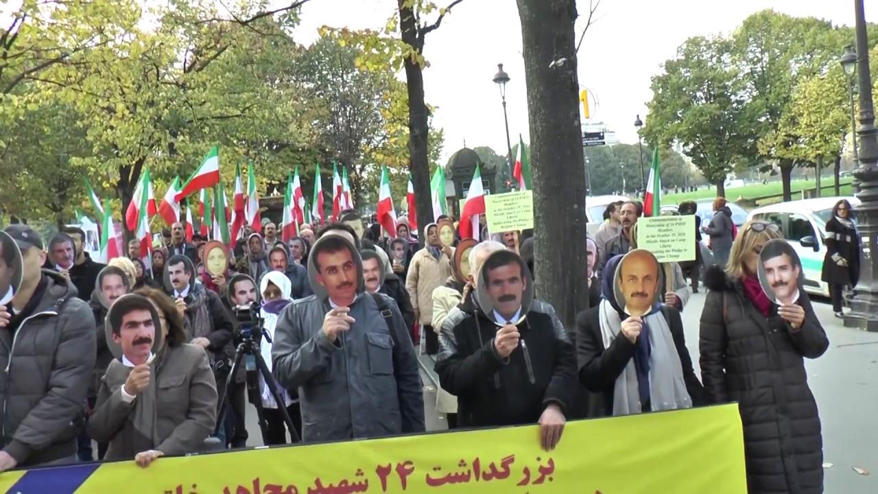 Rassemblement place des Invalides pour réclamer justice pour les victimes des massacres en Iran