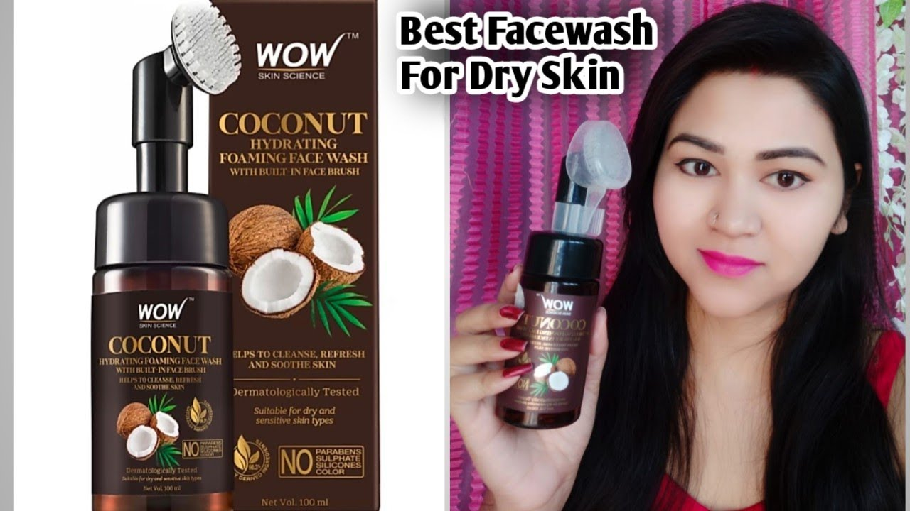 wow Coconut Hydrating Foaming Face Wash Honest Review  Best Facewash for Dry Skin And Sensitive Skin