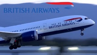 Video HD British Airways Boeing 787-9 G-ZBKF/G-ZBKB Takeoff from San Jose International Airport download MP3, 3GP, MP4, WEBM, AVI, FLV Maret 2018