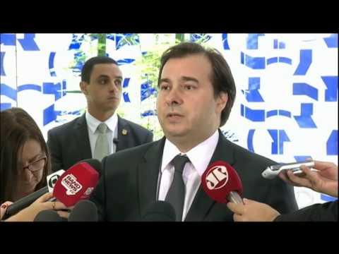 Presidente da Câmara, Rodrigo Maia, reage as acusações da Polícia Federal