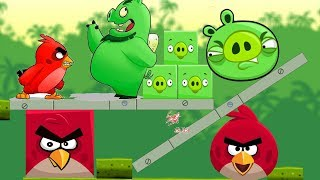 Angry Birds Kick Pigs - CHANGE SHRAPE SQUARE OR ROUND PIGGIES!