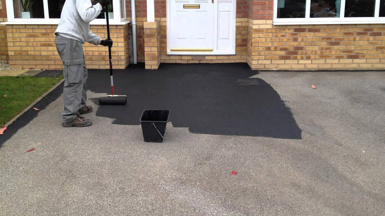 Black Tarmac Drive Paint