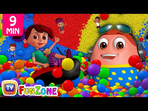 Thumbnail: Learn Colours, Alphabets & Numbers | Surprise Eggs Ball Pit Show for Kids | ChuChu TV Funzone 3D